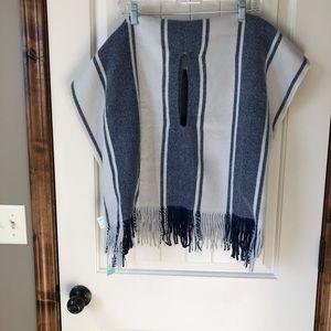 NWT Madewell striped cape scarf shawl